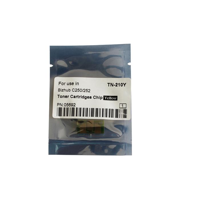 TN-210Y Toner Chip for Konica Minolta Bizhub C250