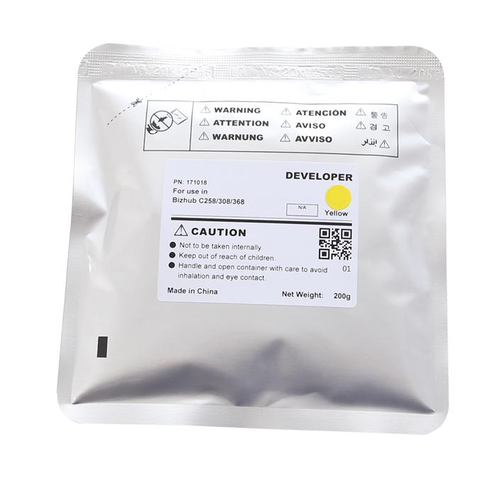 Yellow Developer for Konica Minolta Bizhub C258/308/368